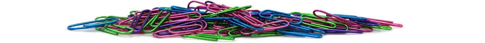Metallic Colored Paper Clips